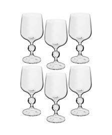Jogo 06 taças vinho 230 ml cristal klaudie bohemia