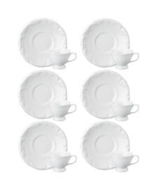 Jogo 06 xícaras café porcelana pomerode schmidt