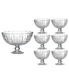 Jogo saladeira/bowls 07 peças vidro dynasty