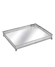 Bandeja de metal espelhada mart
