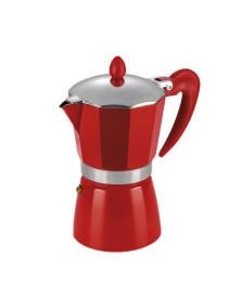 Cafeteira italiana alumínio vermelha hercules