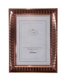 Porta retrato de aço life rose gold 13 x 18 cm