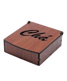 Caixa para chá madeira woodart