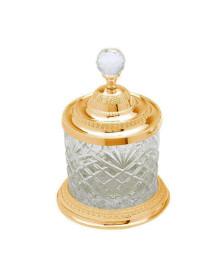 Porta-objetos grande cristal dourado lyor