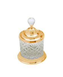 Porta-objetos pequeno cristal dourado lyor
