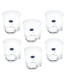 Jogo 06 copos cristal whisky bohemia