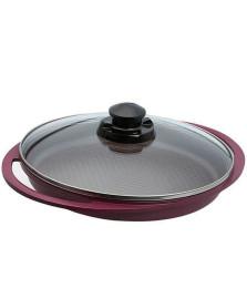 Grill com tampa 29 cm cerâmica violeta roichen