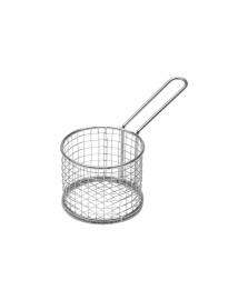 Cesta p/ fritura ferro prata lyor