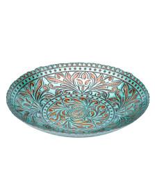 Centro de mesa de vidro 40 cm camelot lyor