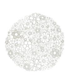 Lugar americano 38 cm florzinhas branco lyor