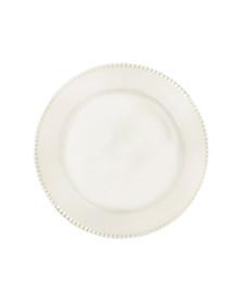Prato raso de porcelana 24.5 cm perla corona