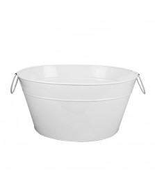 Cooler oval 42 cm metal branco dynasty