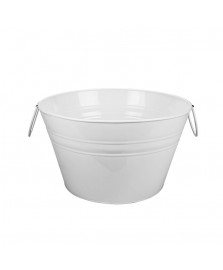 Cooler redondo 36 cm metal branco dynasty