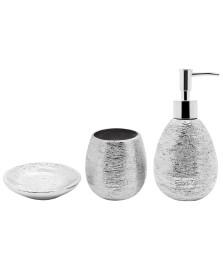 Jogo p/ banheiro 03 pçs lunar prata mimo