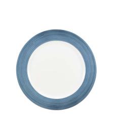 Prato sobremesa 19 cm porcelana borda azul schmidt