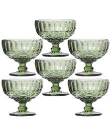 Jogo 06 taças sobremesa elegance verde class home
