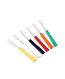 Jogo 06 garfos p/ petiscos coloridos hercules