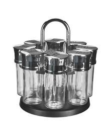 Porta-temperos 08 potes vidro c/ suporte dynasty