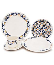 Jogo de jantar 20 peças cerâmica evora corona