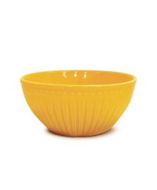 Bowl cerâmica 550 ml relieve amarelo corona