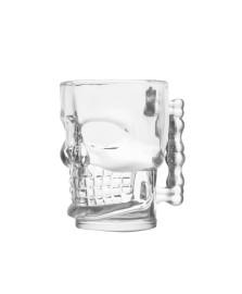 Caneca caveira para chopp 500 ml vidro lyor