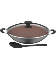 Panela wok alumínio 32.5 cm vermont tramontina