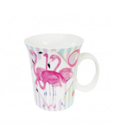 Caneca porcelana 320 ml flamingo