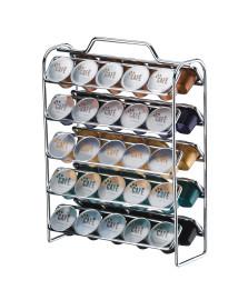 Porta capsulas p nespresso aço cromado future