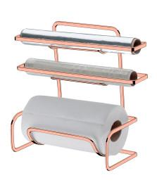 Suporte papel/alumínio/pvc aço rosé gold future