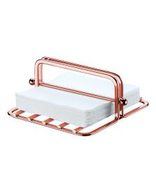 Porta guardanapos 18.5x18 cm aço rosé gold future
