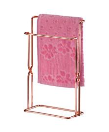Porta toalha bancada aço rosé gold future