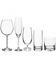 Jogo taças/copos 30 pçs cristal gastro bar bohemia titânio