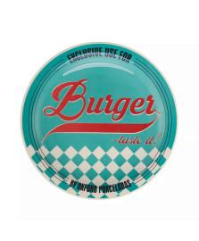 Prato raso burger 26 cm porcelana azul oxford