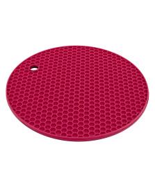 Descanso panela redondo silicone vermelho euro