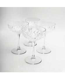 Jogo de 04 taças para champanhe vintage timeless 255 ml