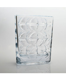 Vaso eclipse em cristal ecologico bohemia 18 x 22 cm
