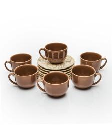 Jogo de xicaras de chá coup sepia porto brasil
