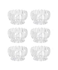 Conjunto 06 bowls de cristal geneva 11 x 6,5 cm wolff