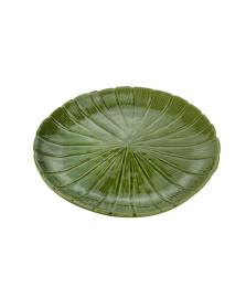 Folha decorativa de ceramica banana leaf verde 24,5x24,5x3cm lyor