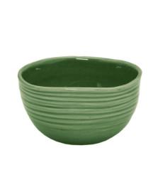Jogo Com 4 Bowls Decorativo Cerâmica Ocean Verde Bon Gourmet 13x12Cm