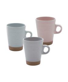 Jogo 6 Xícaras Cerâmica Para Café com Suporte Romance 120Ml Bon Gourmet