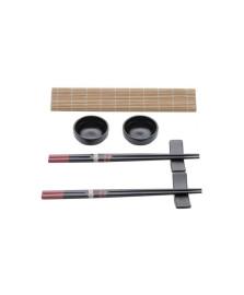 Conjunto 8 pecas para sushi de bambu yokohama lyor