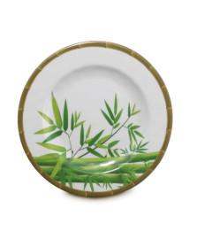 Prato de jantar melamina bambu 28 cm mimo