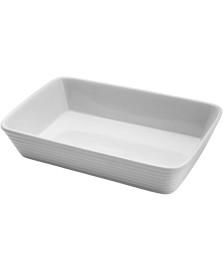 Refratario de porcelana linea branco 25,5x16,5x5cm lyor