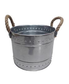 Champanheira em ferro galvanizado 21 x 16 cm