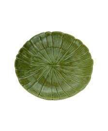 Folha decorativa ceramica banana leaf verde 19,5x19,5x3cm lyor
