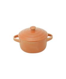 Caçarola de porcelana farm laranja 13x10x5cm lyor