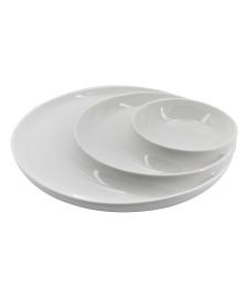 Petisqueira Redonda c/3 Divisórias em Porcelana DYNASTY
