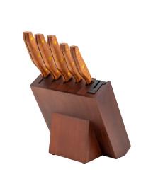 Jogo de 5 facas hanzzo wood 5 pecas