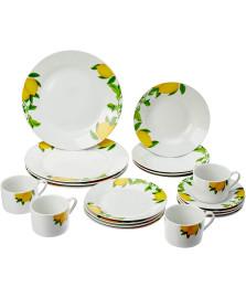 Jogo de jantar 20pc de porcelana sicilian lemon lyor
